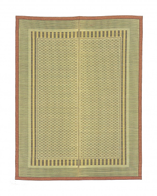 ケントス 国産い草&炭パイプ交織ラグ 191×250cm見る