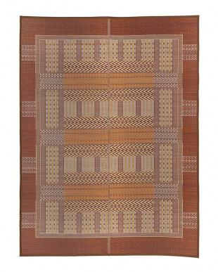 ブラウン  オリエンタル 国産い草ラグ(裏貼り)  191×250cm見る