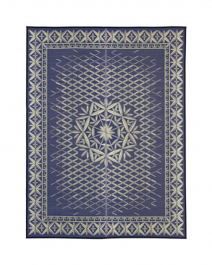 ブルー クリスタル 国産い草ラグ 191×250cm見る