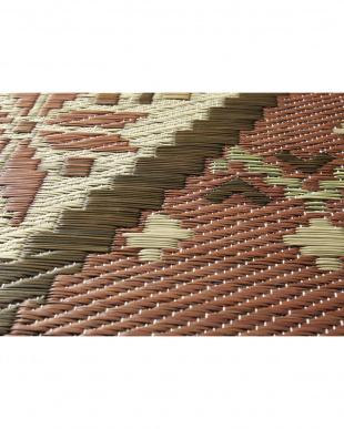 ブラウン  オーキッド 国産い草ラグ 191×250cm見る