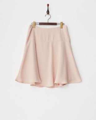 ベージュピンク デシンフレアスカート見る