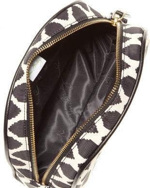 Ikat Spots with Black  Medium Zip Cosmetic見る
