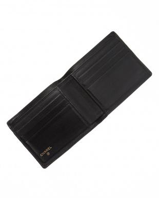 ブラック 二つ折り財布見る