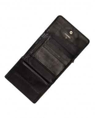 ブラック キャビアスキン 財布見る