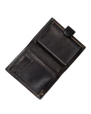 ブラック キャビアスキン財布見る