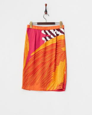 オレンジ メンフクロウサテンスカート見る