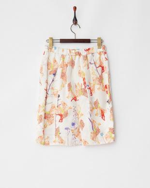 オフホワイト フラワーパンサーTe/Liスカート見る