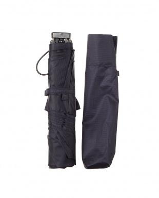 ネイビー 折りたたみ 軽量ミニ傘 日本製|UNISEX見る