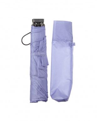パープル  折りたたみ 軽量ミニ傘 日本製|UNISEX見る