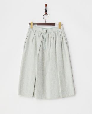 ミント ツイード調スカート見る
