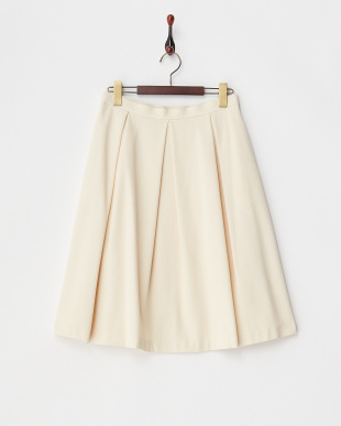 アイボリー ミラノリブスカート見る