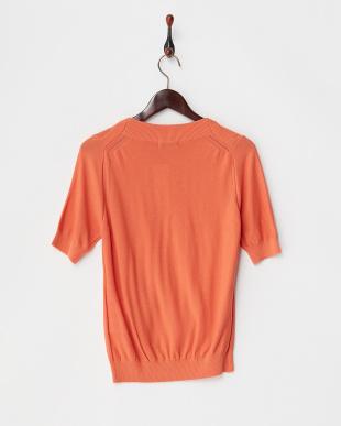 オレンジ 40/3KOHAKU 半袖アイレットニット(ウォッシャブル)見る