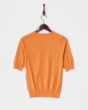 オレンジ 4/95シルクコットン半袖ニット見る