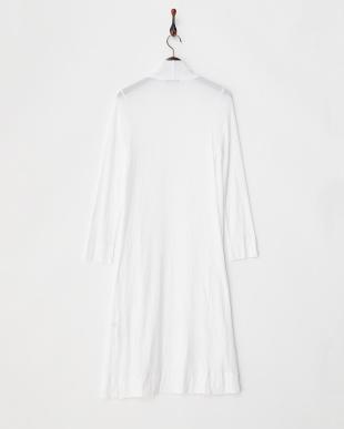 ホワイト 40/1テンセルテレコ 羽織りカーディガン見る