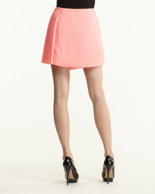 PINK ASYMETRIC PLEAT KILT スカート見る