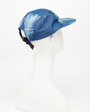 NONE/DUMP BLUE ACID WASH DENIM 5 PANEL CAP見る