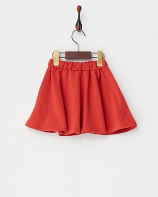 レッド 裏毛スカート見る