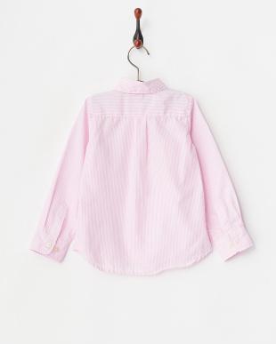 ピンク  ストライプシャツ見る