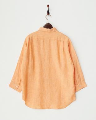 オレンジ 7分袖 リラックスリネンシャツ DOORS見る