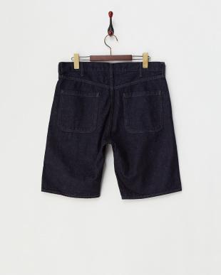 Navy  Denim Shorts DOORS見る