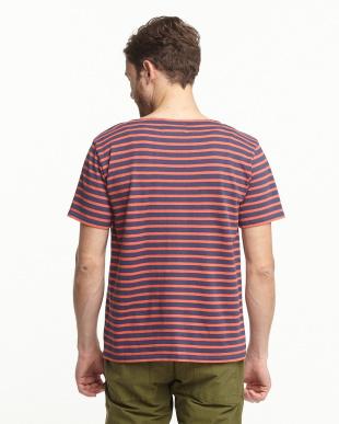 NVY×RED カラーボーダーS/S Tシャツ FORK&SPOON見る