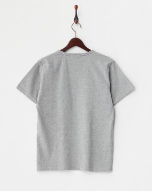 OLIVE/GREY ラインパッチワーク Tシャツ B DOORS見る