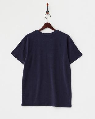 Navy Pile Print Tシャツ DOORS見る