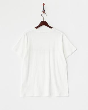 White 梨地Print Tシャツ Morning柄 DOORS見る