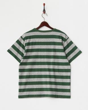 T.GRYxGRN  Hemp Cotton Border Tシャツ DOORS見る