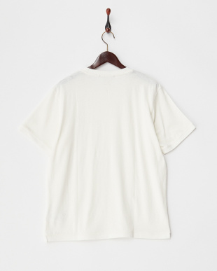 WHITE  Belgium Linen Mix ショートスリーブTシャツ DOORS見る