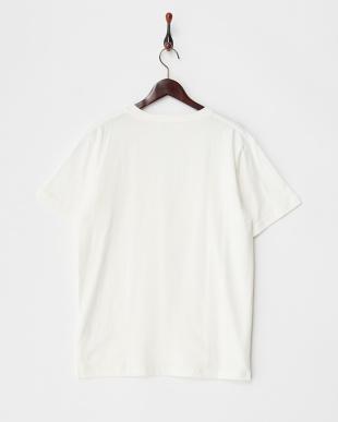 White ワッフル切り替えTシャツ DOORS見る