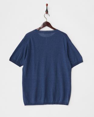 Navy Linen Knit T-SHIRTS DOORS見る