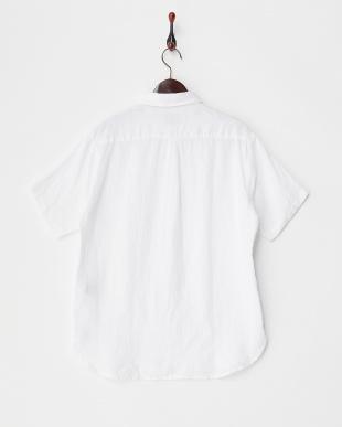 White  Linen SHORT-SLEEVE Shirts DOORS見る