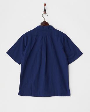 Navy  Open Collar ショートスリーブシャツ DOORS見る