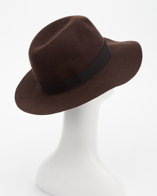 BROWN  Rohw×UR WIDE BRIM WOOL FELT HAT見る