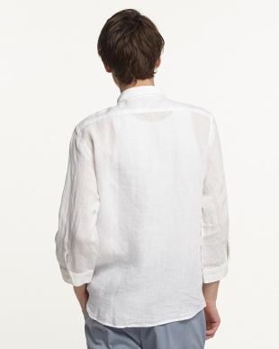 ホワイト ピュアリネン7分袖シャツ UR見る
