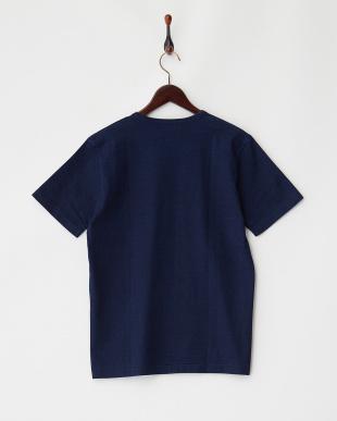 IndBlue インディゴクルーネックポケットTシャツ UR見る