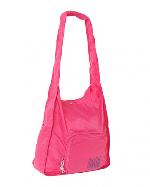 Pink  Expand-a-Bag ショルダーバッグ見る