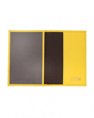 Yellow  GLASS LEATHER パスポートカバー見る