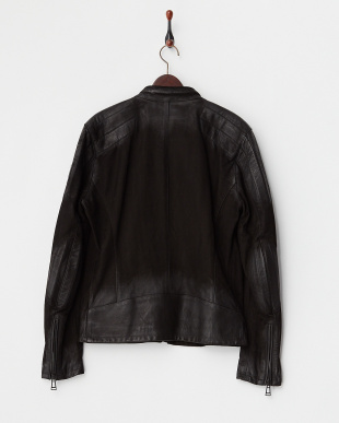 BLACK ARCHER BLOUSON W/PATCH MAN SPRING OILED SUEDE見る