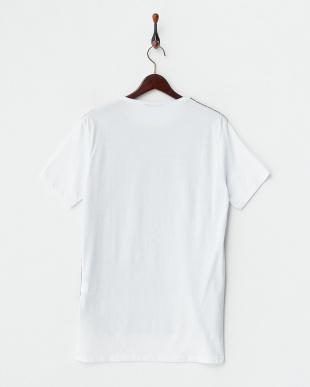 ホワイト  柄切り替えTシャツ見る