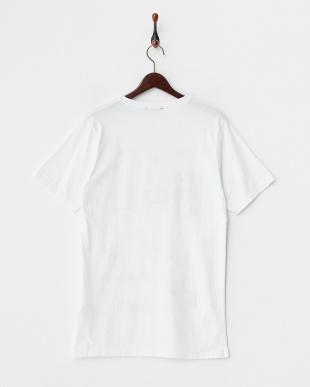 ホワイト 鳥イラストTシャツ見る
