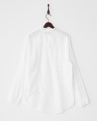 ホワイト Wポケットシャツ見る