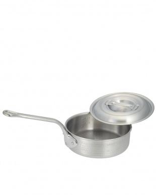 ガス専用 ニューキングポット アルミ打出し浅型片手鍋(24cm)見る
