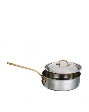 オール熱源対応 ホームデンジステンレス浅型片手鍋(21cm)見る