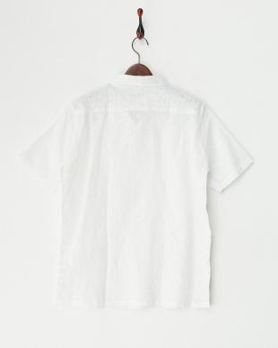 ホワイト エンブロイダリー半袖シャツ見る