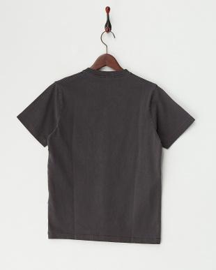 ブラック 米綿VネックTシャツ見る