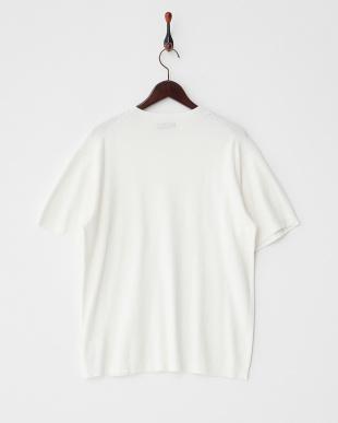 オフホワイト  ハーフミラノ半袖Tシャツ見る