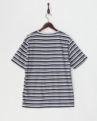 ネイビー×ホワイト ランダムボーダーTシャツ見る