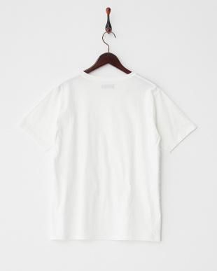 ホワイト 布帛コンビフリンジ半袖Tシャツ見る